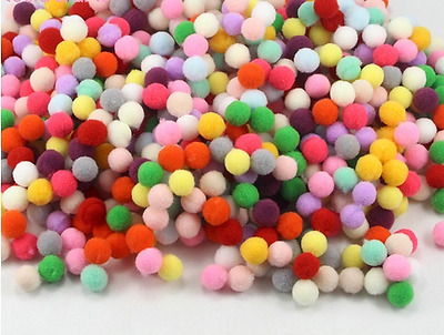 280pcs 10mm Multi Mix Colour Pompoms Soft Pom Poms balls