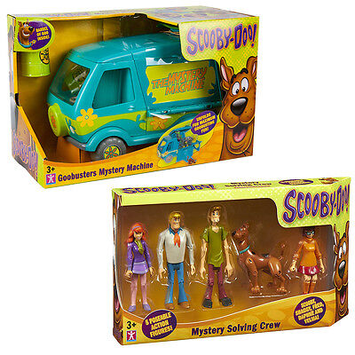 SCOOBY DOO Bundle Goo Busters Mystery Machine, 5 Mystery Figures Playset NEW!