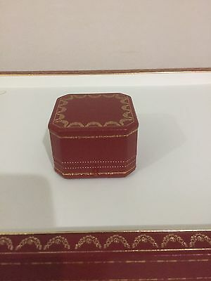 Vintage Cartier Pendant Or Ring Jewelry Jewellery Leather Box