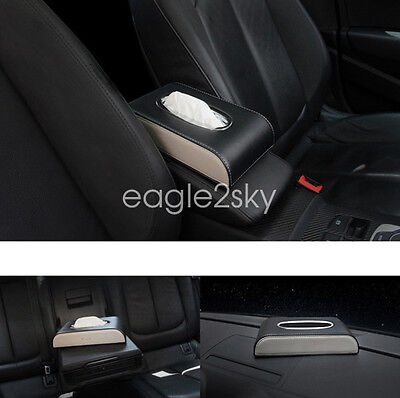 Durable Towel PU Leather Tissue Box Napkin Car Home Paper Holder Case Cover