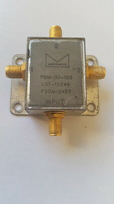 Merrimac PDM-30-150 3-Way 1 to 300 MHz Power Divider