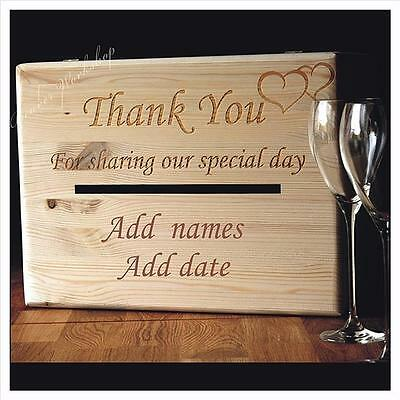 Wedding card post box LARGE box Wedding Gifts, ADD NAME AND DATE