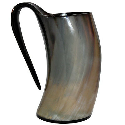 VIKING DRINKING HORN MUGS 20oz FOR BEERWINE & PAGAN GAME OF THRONES,