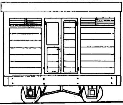 Freelance 4 Wheel Brake Van (OO9 kit) - Dundas DM03A - F1
