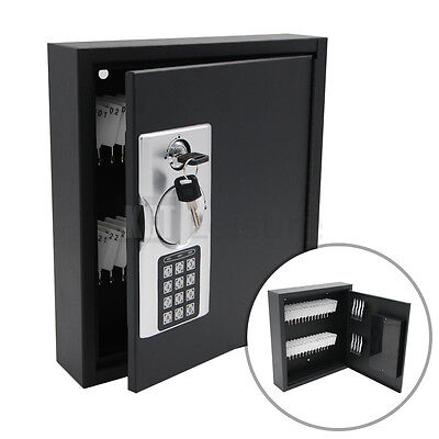 Home Wall Mounted Digital 40 Key Cabinet Secure Box Safe Lockable Office Store