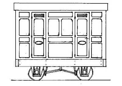 Freelance Panelled 4-Wheel 1st Cl. 2 Comp. Coach (OO9) Parkside Dundas DM76 - F1
