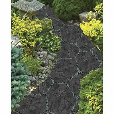 Recycled Rubber Stepping Stone - Grey - Walkway Path Paving Landscaping  -SINGLE