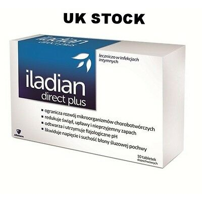 ILADIAN DIRECT PLUS 10 Vaginal tablets thrush bacterial vaginosis ALBOTHYL BV