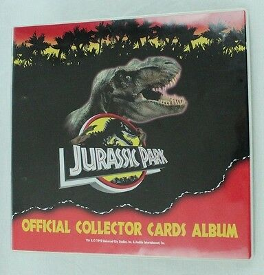 Jurassic Park Official Collector Cards Album Binder T-Rex 1992 Dynamic 14 Pages