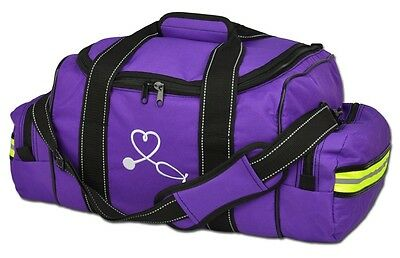PURPLE Lightning X Large First Responder Bag, Dividers, Medical Trauma First Aid