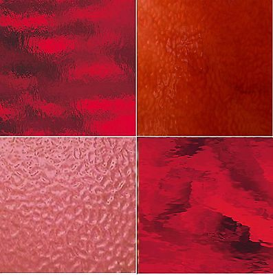 Buy Stained Glass Sheets.Red Stained Glass Pack 4 Sheets Of 8x10 Stained Glass