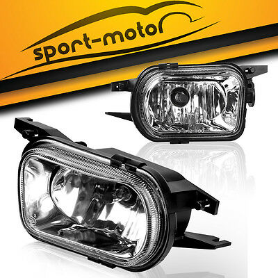 for 01-07 Mercedes Benz W203 C-Class Clear Bumper Fog Lights Driving Lamps PAIR