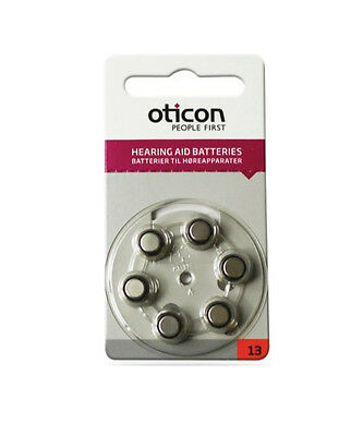 Oticon Size 13 Hearing Aid Batteries (Orange Tab) - Various Pack Size