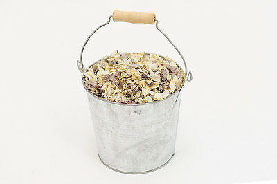 Silver Pail & 2 Litres Of Real Dried Petal Confetti. Natural, Biodegradable