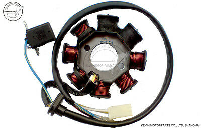 Magneto Stator Generator Chinese GY6 50cc 8 poles Scooter Moped Baotian COOSTER