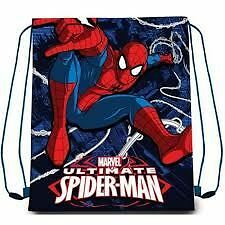 SPIDERMAN | Trainer Bag Drawstring School PE Boys Swimming Backpack Spider-Man
