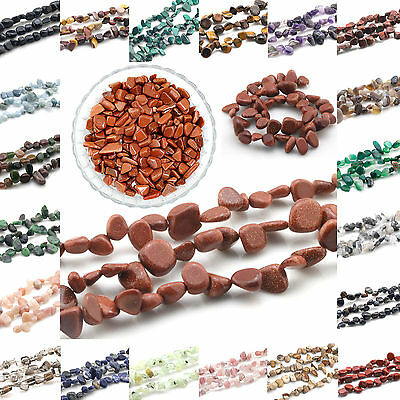 """Natural Stone gemstone Chips Beads For Jewelry Making 15.5"""" Bulk in Lot"""