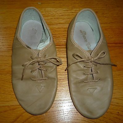 Dance Class Womens Tan Jazz Shoes Size 4 Leather