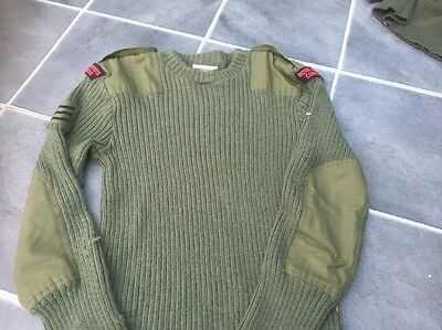 Royal Marine Commando Pullover Military Wool Jumper Olive Green Used