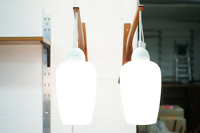 (D192) SALE! Danish Mid Century Modern Teak Wall Sconce Arm Lights Lamps Pair