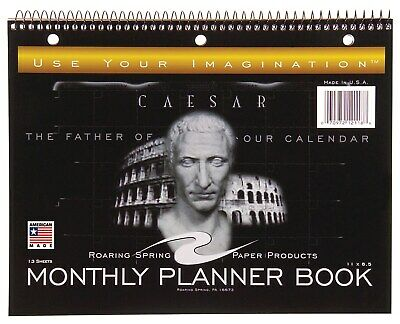 """Roaring Spring Paper Company 12118 11"""" X 8.5"""" Monthly Planner Book"""