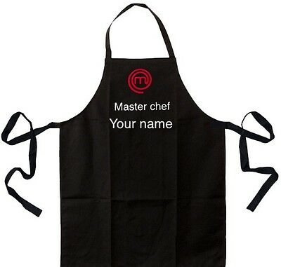 Personalised custom printed apron Master chef