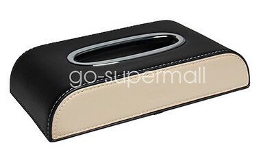 Durable Leather Tissue Box Napkin Car Home Paper Holder Case Cover Towel