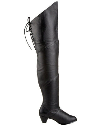 Black Lace Up Maiden Womens Boots