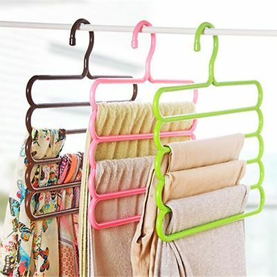 5 Layers Scarf Practical Clothes Racks Towels Holders Trousers Pants Hangers