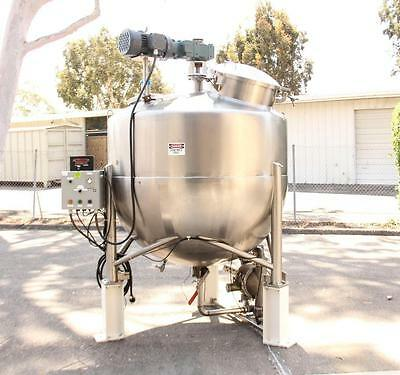 Groen 500 Gallon Kettle Vacuum Rated Mixer 143068-1 Stainless Steel (2871)