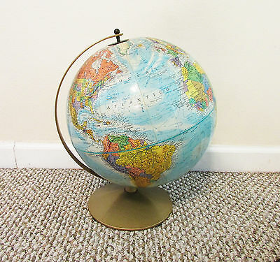 Vintage REPOGLE World Nation Series 12 Inch Diameter Globe Raised Relief USSR