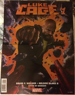 Luke Cage #1 13x10 promo poster Marvel Comics NEW Rocket/Groot