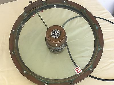 Vintage Speich CLear View Screen Heating Spinning Works Great MARINE BOAT 115v
