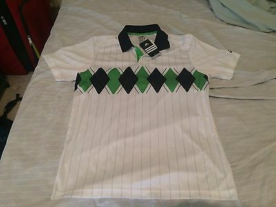 NEW Adidas spezial argyle tennis shirt sz medium **Andy Murray