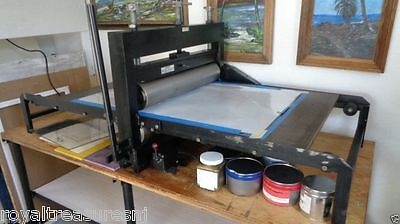 """Wright motorized combination printing press Large Bed Size: 48"""" x 27"""""""