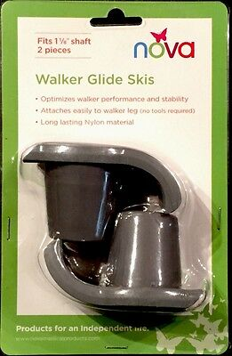 NOVA Walker Glide Skis #40027GR (1 Pair) Mobility Disability Aids FREE SHIPPING!