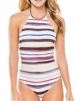 9319125417245 BMJL Women's Halter Scalloped Bathing Suit High Neck Backless One Piece  Swims.