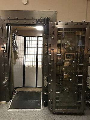 Vintage Antique Mosler Bank Vault Door And Frame Reduced
