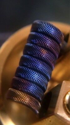 2x 8 Ply 7 Wrap 4mm ID Framed Staple Alien Coils + Free Coils/Cotton!