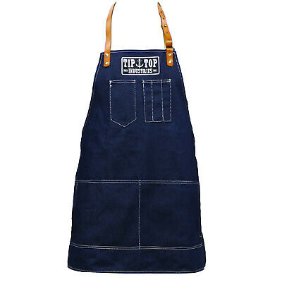Authentic TIP TOP Barber's Blue Denim Cutting Apron