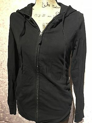 Oh Baby By Motherhood Black Maternity Hooded Jacket Size Small