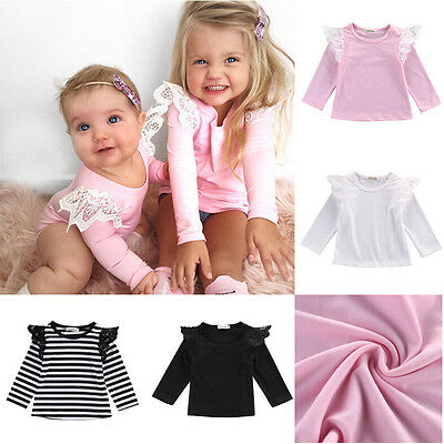 Newborn Baby Girl Infant Toddler Clothes Long Sleeve T-shirts Tops Outfit Blouse