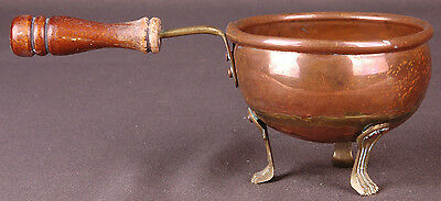 Vintage COPPER Cauldron Plant POT Kettle Brass Claw Feet-Made in Ireland