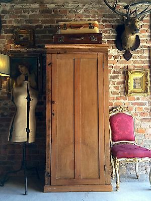 Fabulous Antique Hall Cupboard Cabinet Solid Pine Victorian 19th Century