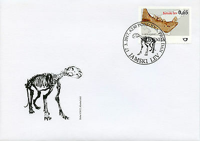 Slovenia 2017 FDC Fossil Mammals Cave Lion 1v Set Cover Fossils Lions Stamps