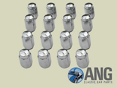 "MG MIDGET '67>, AUSTIN HEALEY SPRITE MkIV 3/8"" ROSTYLE CHROME WHEEL NUTS x 16"
