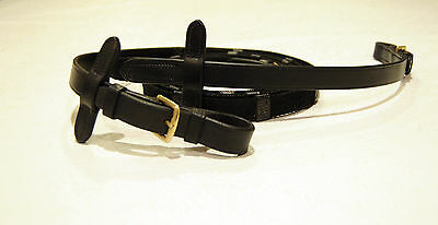 G. Passier & Sohn black webbed reins with stop for bridle leather