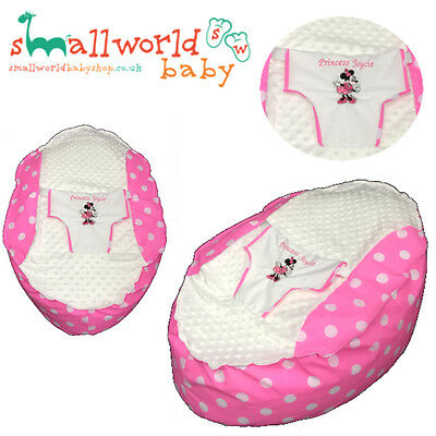 Personalised Pink & White Polka Minnie Mouse Baby Bean Bag (NEXT DAY DISPATCH)