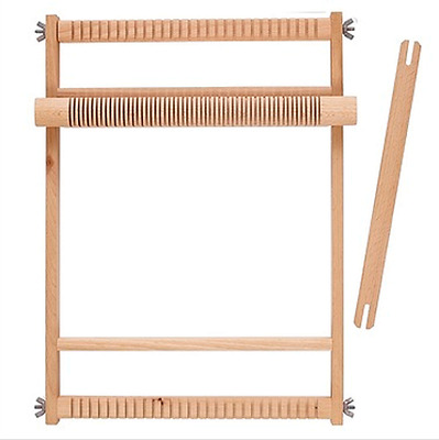 Weaving Loom  Large Wooden Crafts Natural Small Arts Weave Wood Heddle Compact