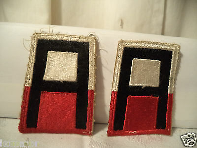 1st Army A Patch Red & White US Military Cut-Edge set of 2